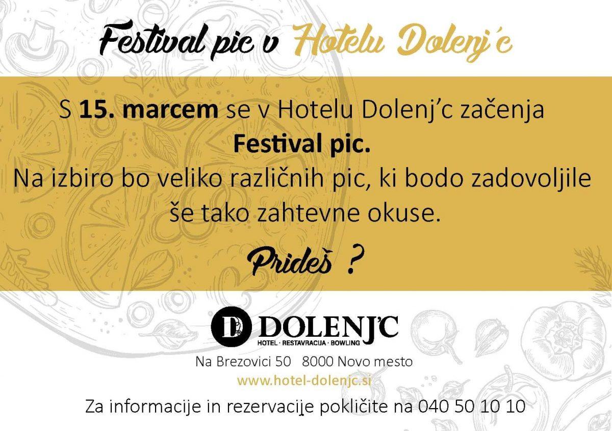 Festival pic v piceriji Dolenj'c