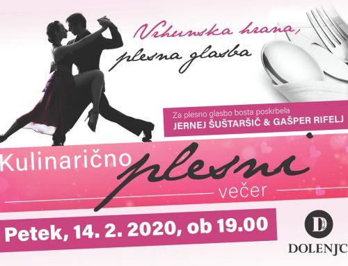 Kulinarično – plesni dogodek v Dolenj'cu