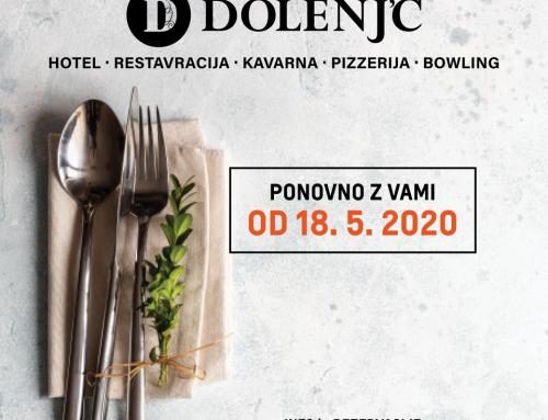 ODPIRAMO VRATA HOTELA DOLENJC